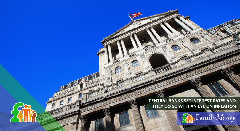 The Bank of England, which sets interest rates according to inflation