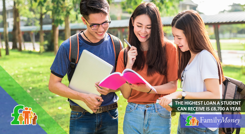 3 students are shown on student campus grounds