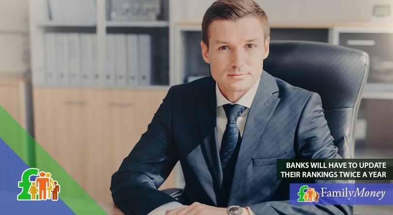 A banking executive sitting at his desk