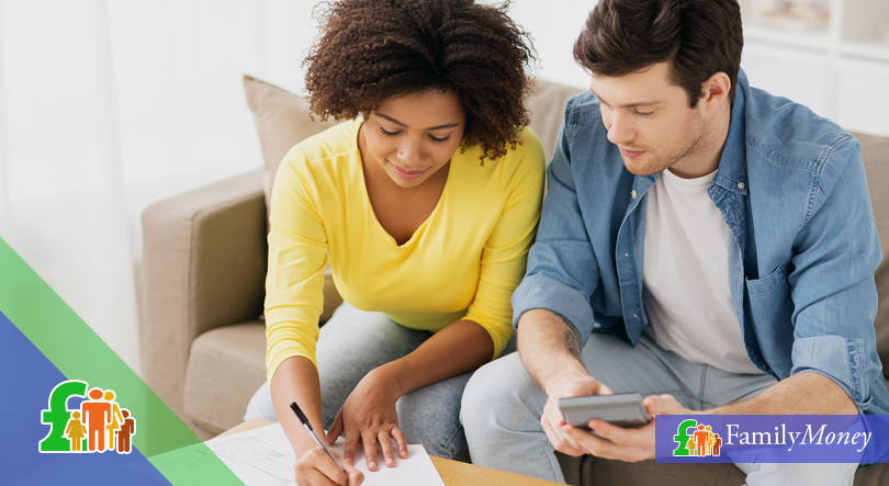 A young couple are applying for a savings account