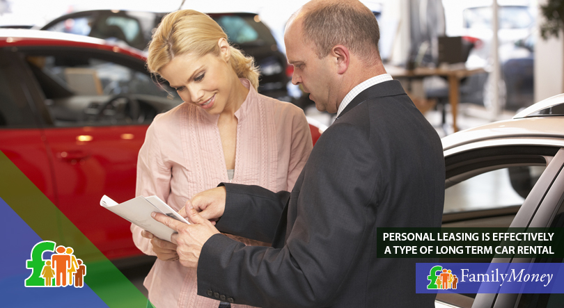 A woman is depicted purchasing a car at a dealership
