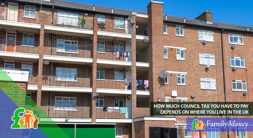 A council housing building in the UK