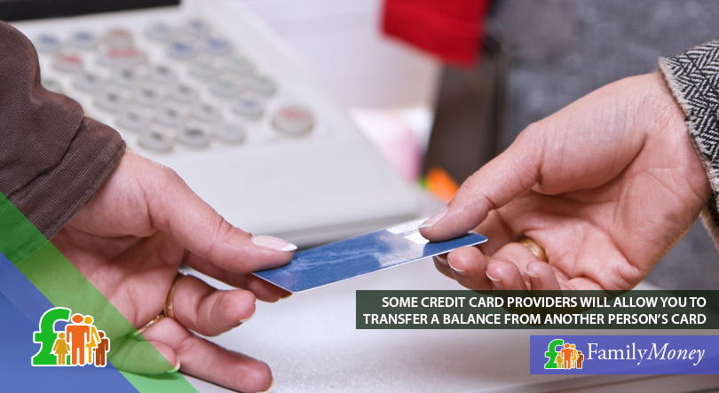 A credit card is depicted changing hands