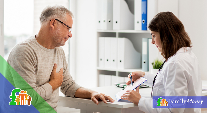 A man is depicted at a doctor's appointment