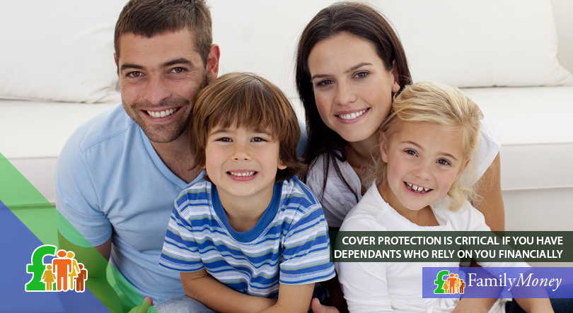 A family who is reassured about their life insurance policy as they have cover protection
