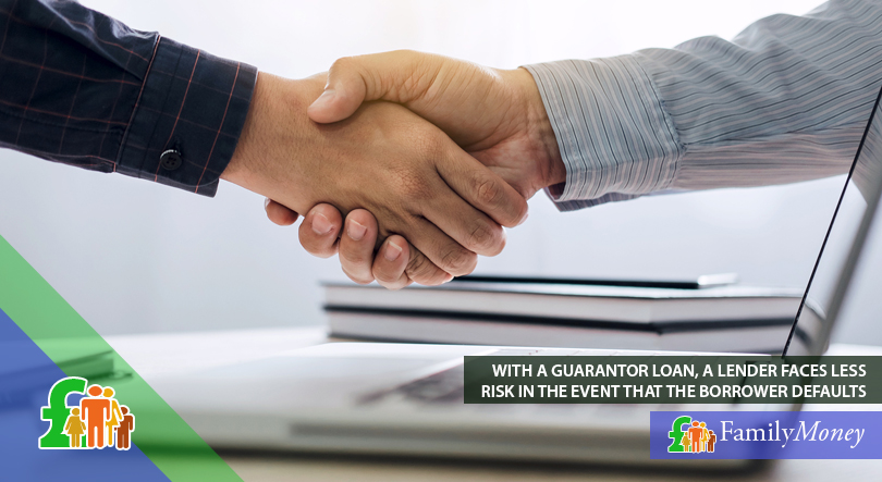 A handshake between a lender and a borrower for a guarantor loan