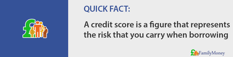 A credit score is a figure that represents the risk that you carry when borrowing