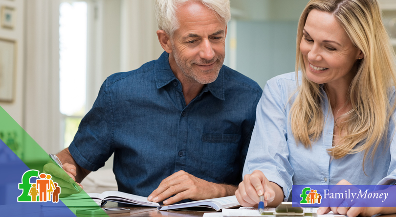 A couple are shown calculating benefits they may be entitled to