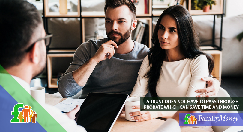 A young couple seek the advice of a legal expert on trust funds