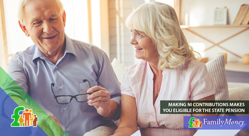 An elderly couple are calculating their NI contributions and their effect on the state pension