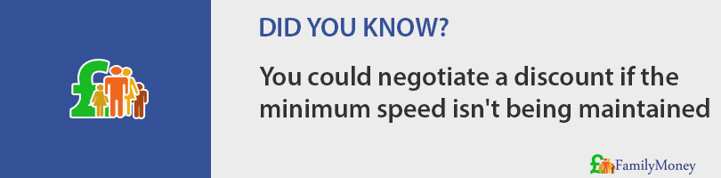 You could negotiate a discount if the  minimum speed isn't being maintained