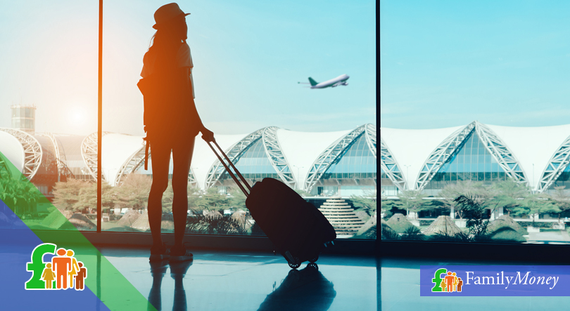 Woman in airport preparing to fly - Family Money