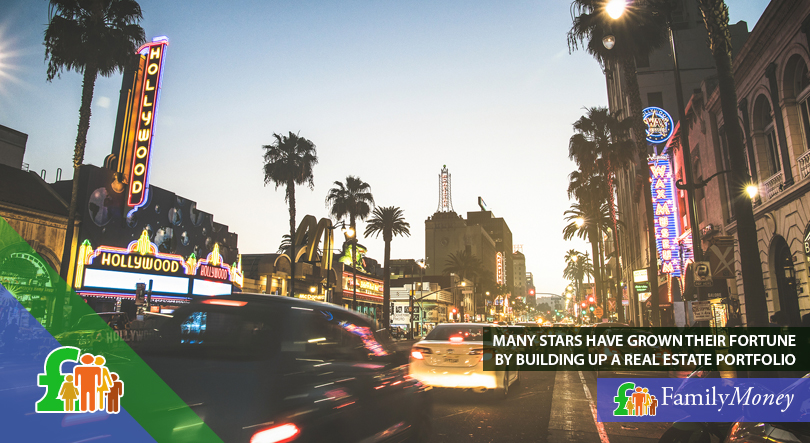 Los Angeles boulevard at dusk