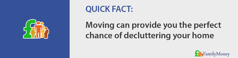 Moving can provide you the perfect chance of decluttering your home