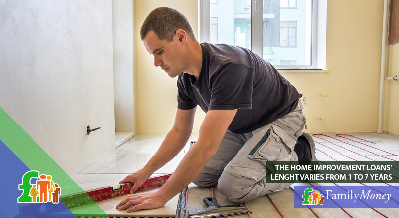 A man is shown working on a home improvement project