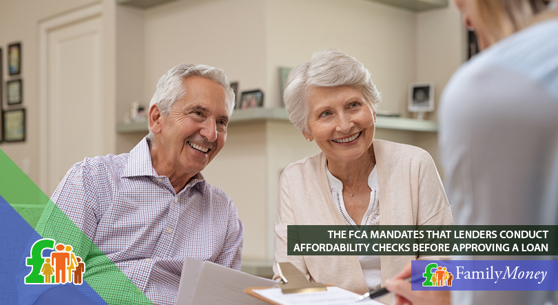 A financial adviser explains the long term loan application process to an elderly couple
