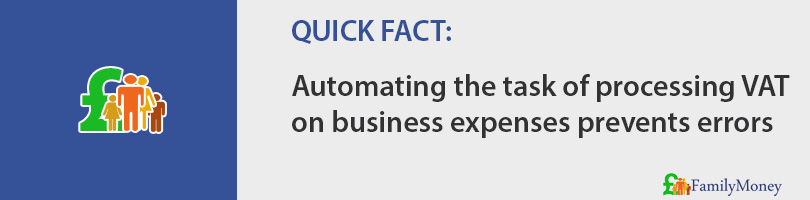 Automating the task of processing VAT on business expenses prevents errors