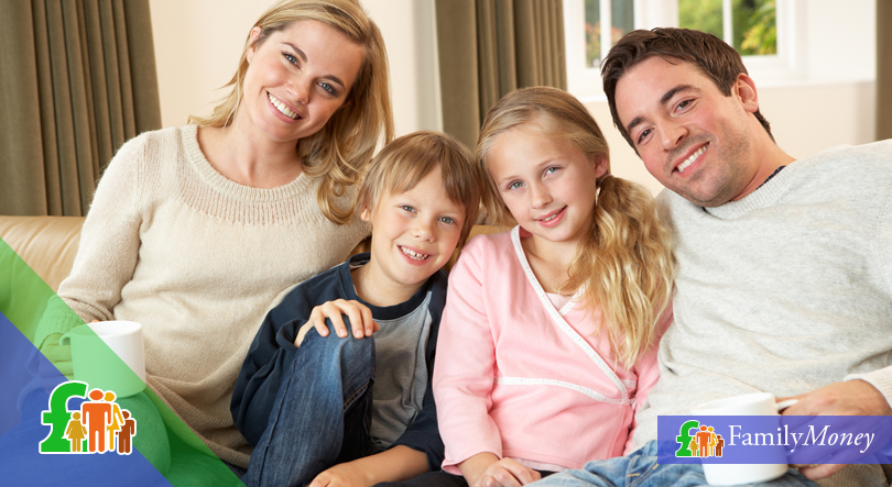 A young family who is covered by a life insurance policy