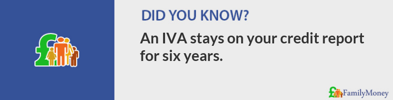 Did you know? An Individual Voluntary Arrangement stays on your credit report for six years.