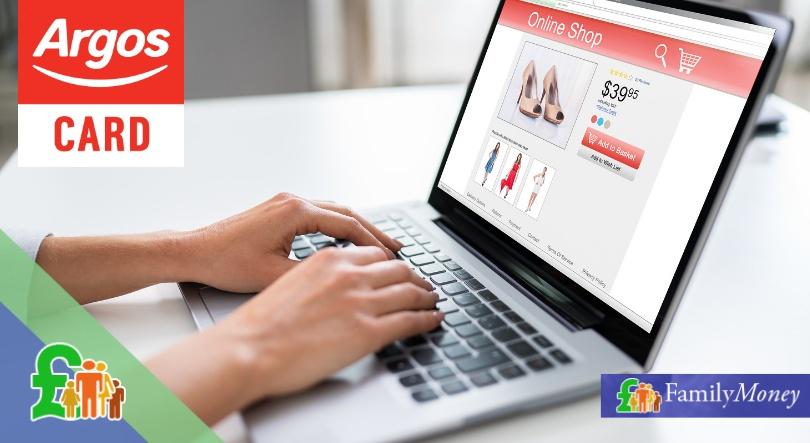 Customer shopping online at Argos