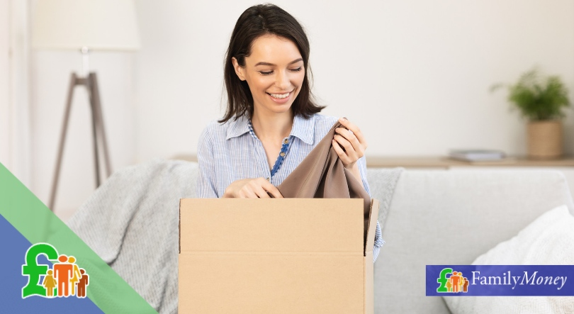 Woman uses buy now pay later service to buy clothes online - Family Money
