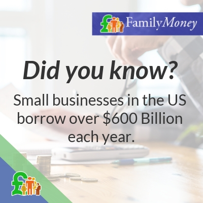 Did you know? Small businesses in the US borrow over $600 Billion each year.