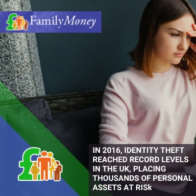 A woman is restoring her personal assets and information after becoming a victim of identity theft in the UK